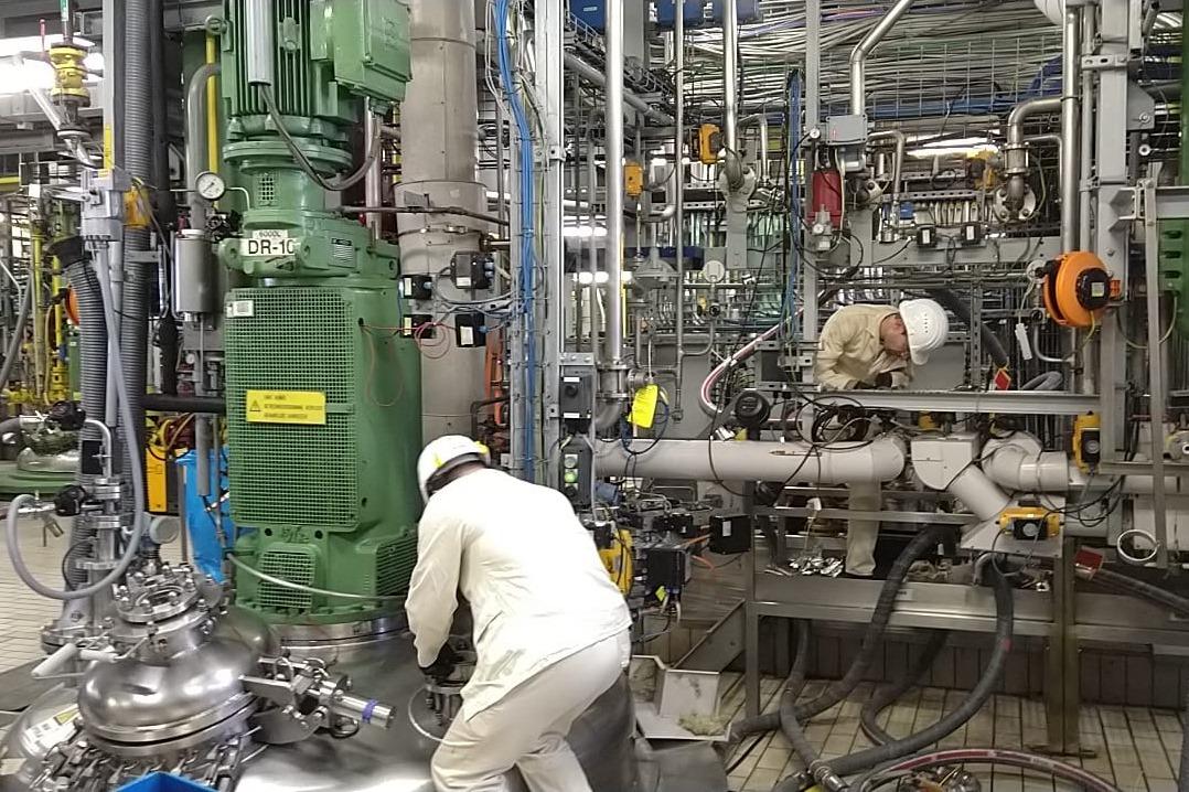 Opstart productie desinfecterende lotion Geel_22032020